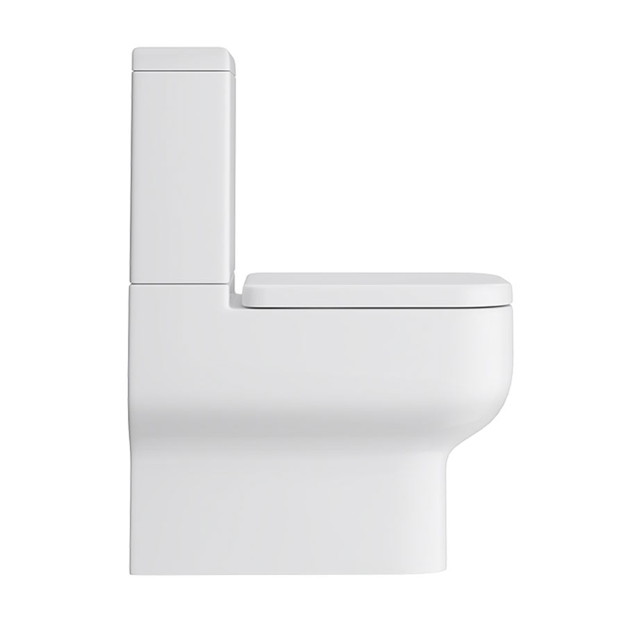 Pro 600 Modern Fully Back To Wall BTW Toilet + Soft Close Seat profile large image view 2