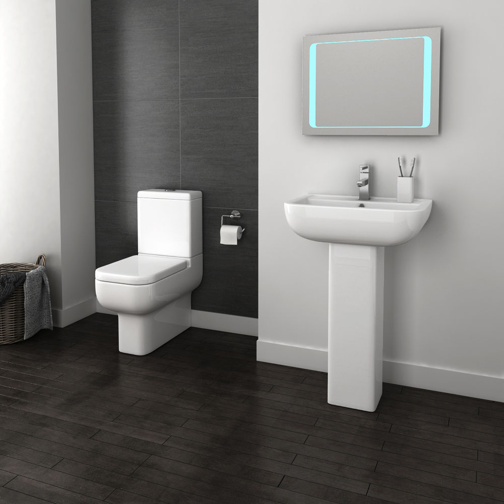 Pro 600 Modern Fully Back To Wall BTW Toilet + Soft Close Seat profile large image view 3