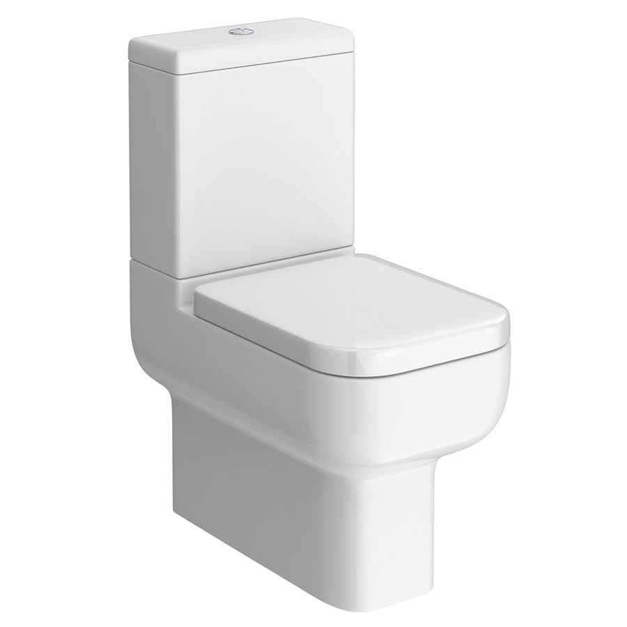 Pro 600 Modern Fully Back To Wall BTW Toilet + Soft Close Seat profile large image view 1