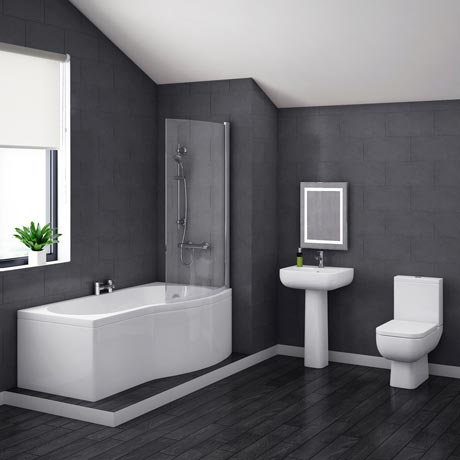 Pro 600 Modern Shower Bath Suite Online At Victorian
