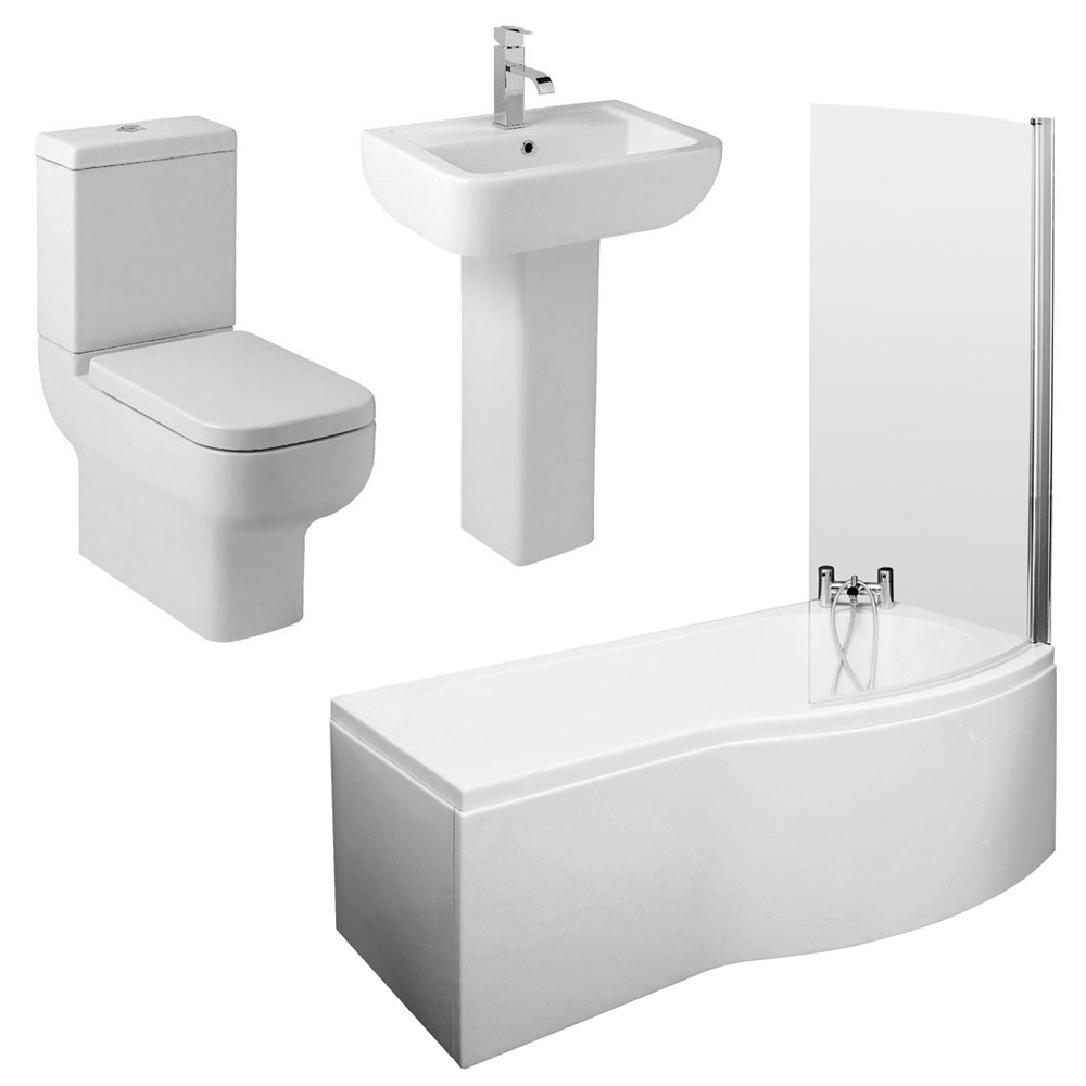 Pro 600 Modern Shower Bath Suite profile large image view 2