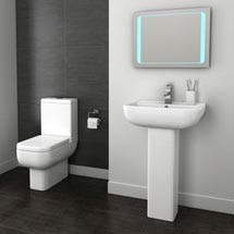 Pro 600 Short Projection Modern Bathroom Suite Medium Image