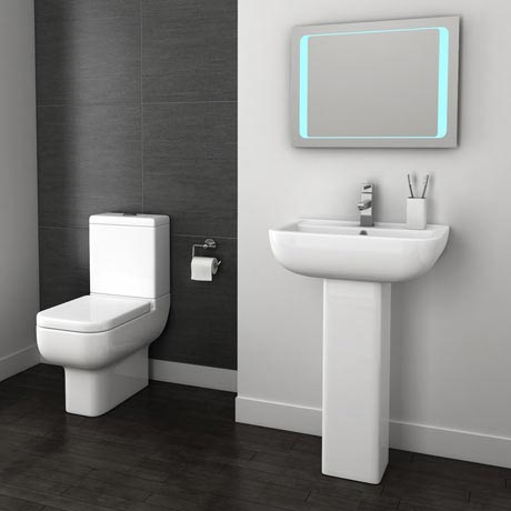 Modern Short Projection Bathroom Suite At Victorian