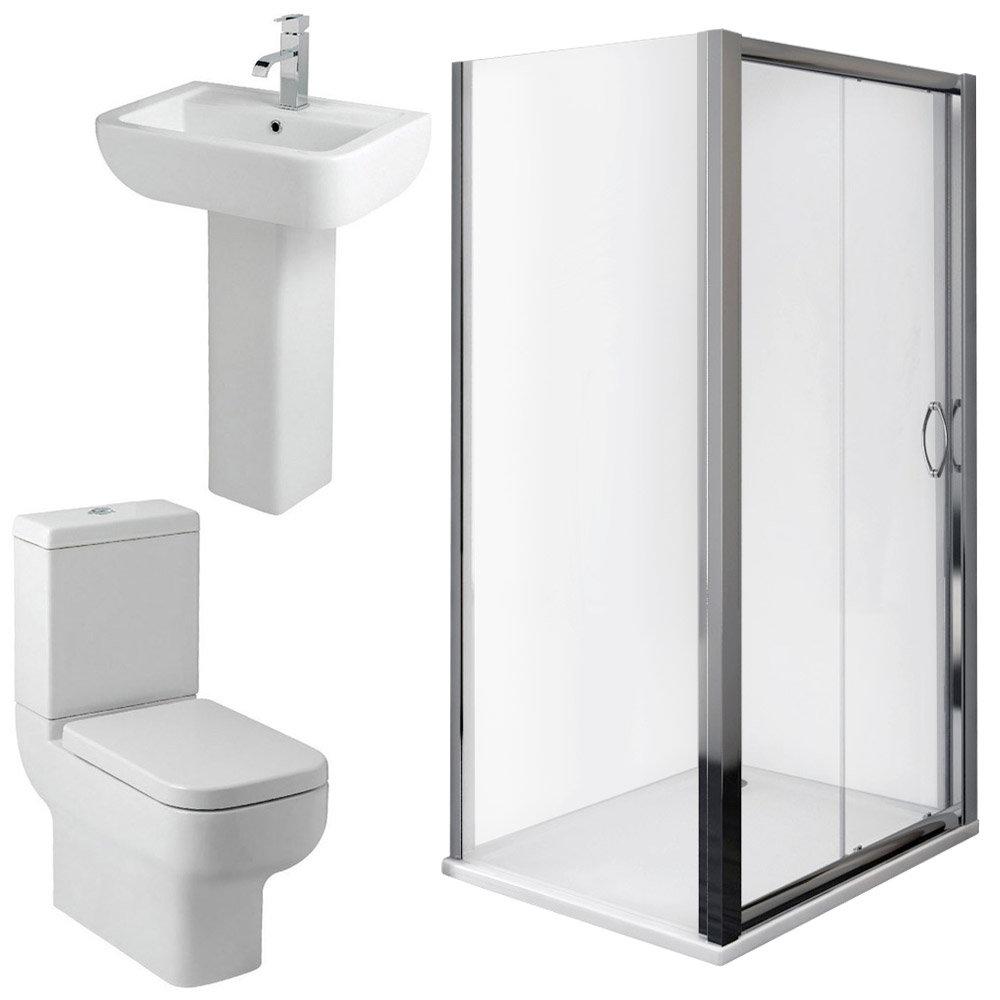 Pro En Suite Bathroom Package with 1200mm Sliding Enclosure profile large image view 2