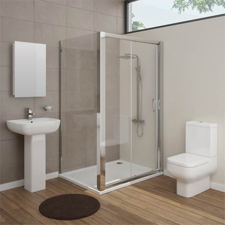 Pro En Suite Bathroom Package with 1200mm Sliding Enclosure
