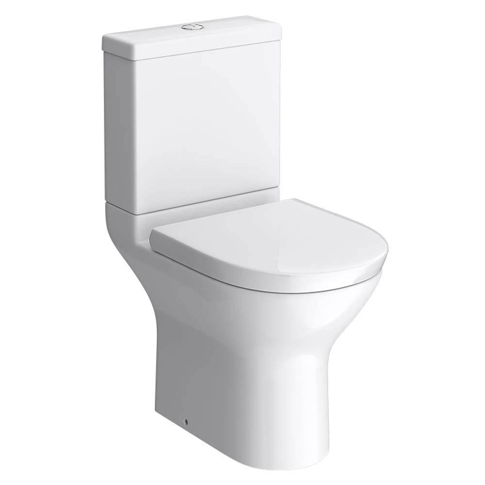 Project Round Modern Short Projection Toilet + Soft Close Seat Large Image