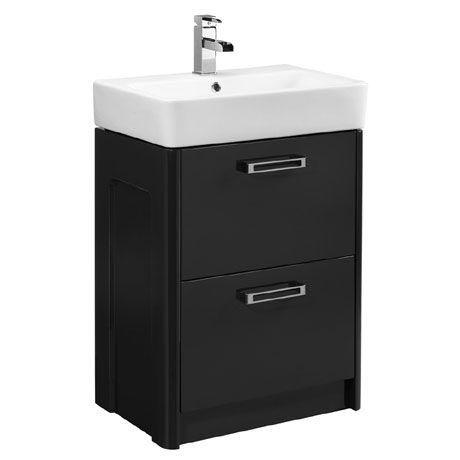 Tavistock Q60 575mm Freestanding Unit & Basin - Graphite