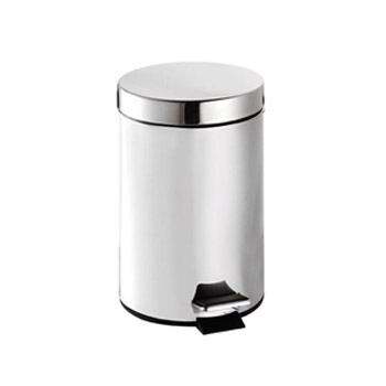 Croydex 3 Litre Stainless Steel Pedal Bin - QA107205 Large Image
