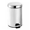 Croydex 3 Litre Stainless Steel Pedal Bin - QA107205 profile small image view 1