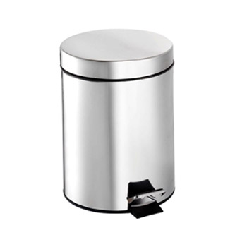 Croydex 5 Litre Stainless Steel Pedal Bin - QA107305 Large Image