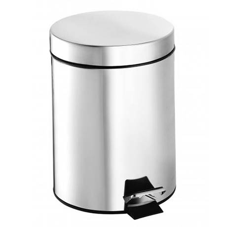 Croydex 5 Litre Stainless Steel Pedal Bin - QA107305