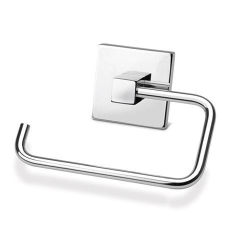 Croydex - Brompton Flexi-Fix Toilet Roll Holder - Chrome - QM571141
