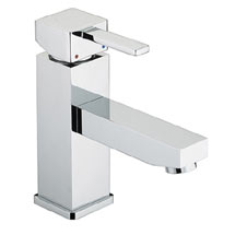 Bristan - Quadrato Basin Mixer w/ Eco-Click & Pop-up Waste - Chrome - QD-EBAS-C Medium Image