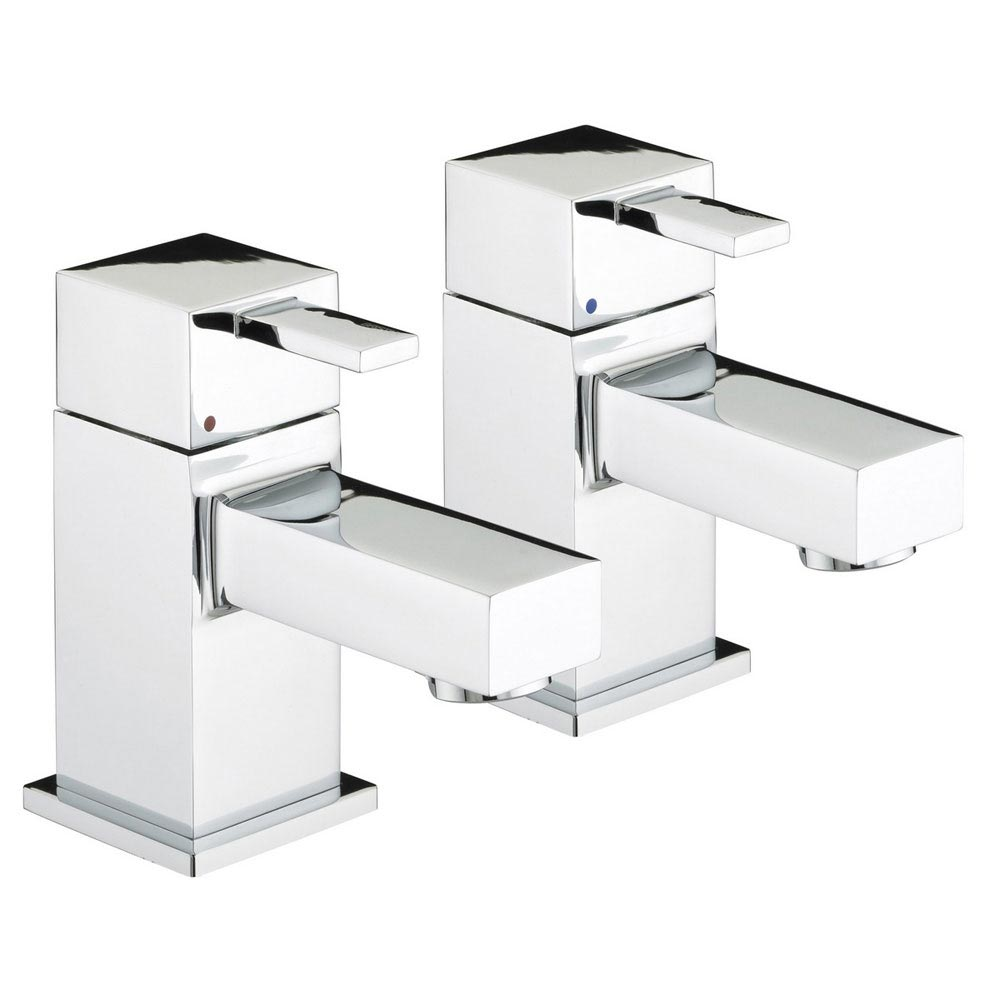 Bristan - Quadrato Basin Taps - Chrome - QD1/2C Large Image