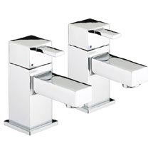 Bristan - Quadrato Basin Taps - Chrome - QD1/2C Medium Image