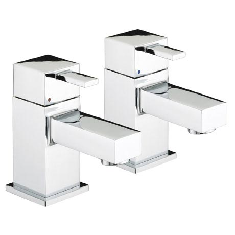 Bristan - Quadrato Basin Taps - Chrome - QD1/2C
