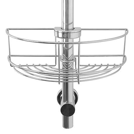Croydex Easy Fit Shower Riser Rail Basket - QM261041