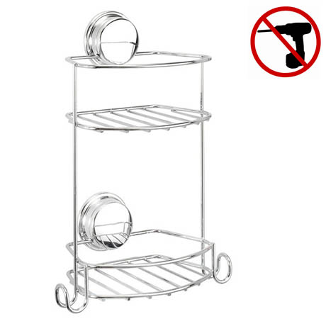 Croydex - 2 Tier Stick n Lock Storage Basket
