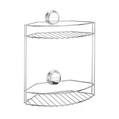 Croydex Stick N Lock Plus 2 Tier Storage Basket - QM280841