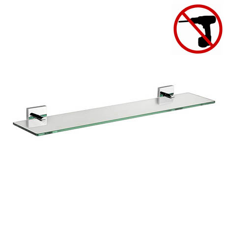 Croydex Chester Flexi-Fix Glass Shelf - QM441441