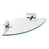 Croydex Chester Flexi-Fix Glass Corner Shelf - QM445941 Medium Image