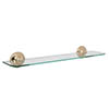 Croydex Grosvenor Flexi-Fix Glass Shelf - Gold - QM701403 Medium Image