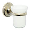 Croydex Grosvenor Flexi-Fix Tumbler & Holder - Gold - QM701803 profile small image view 1