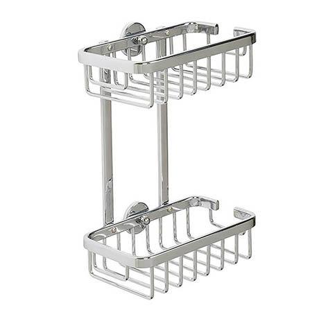 Croydex Slimline Aluminium Two Tier Shower Basket - QM786041