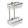 Croydex Slimline Aluminium Two Tier Shower Basket - QM786041 profile small image view 1
