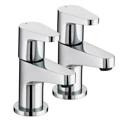 Bristan Quest Contemporary Basin Taps - Chrome - QST-1/2-C