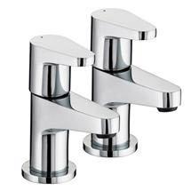Bristan Quest Contemporary Bath Taps - Chrome - QST-3/4-C Medium Image