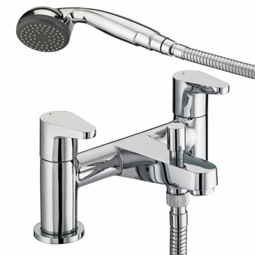 Bristan Quest Contemporary Bath Shower Mixer - Chrome - QST-BSM-C profile large image view 1