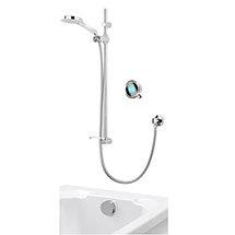 Aqualisa Q Smart Digital Concealed Shower with Adjustable Head and Bath Overflow Filler