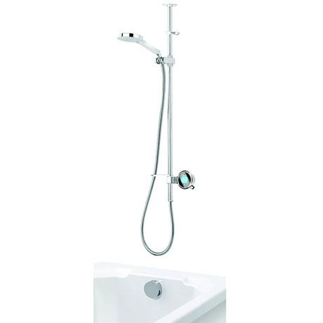 Aqualisa Q Smart Digital Shower Exposed with Adjustable Head and Bath Overflow Filler