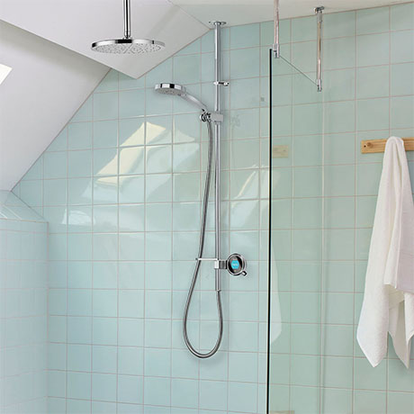 Aqualisa Q Smart Digital Shower Exposed with Adjustable and Fixed Ceiling Heads