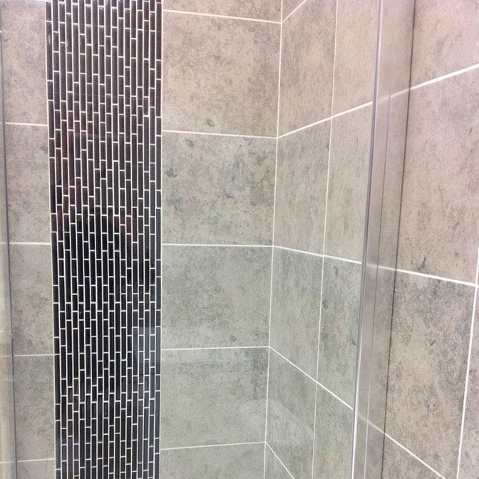 Quartz 1 Black Glass Mosaic Tile Sheet (276x306mm)  Profile Large Image