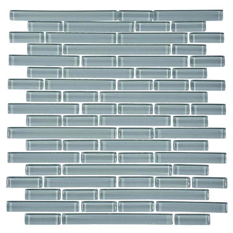 Quartz 1 White Glass Mosaic Tile Sheet (276x306mm) profile large image view 1