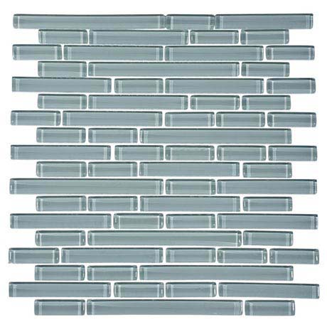 Quartz 1 White Glass Mosaic Tile Sheet (276x306mm)