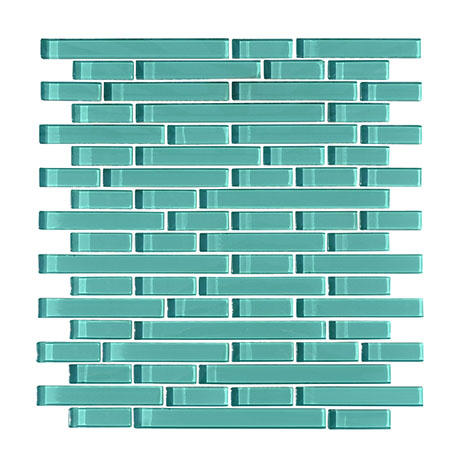Quartz 1 Ice Green Glass Mosaic Tile Sheet (276x306mm)