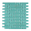 Quartz 1 Ice Green Glass Mosaic Tile Sheet (276x306mm) profile small image view 1