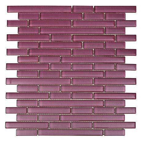 Quartz 1 Purple Glass Mosaic Tile Sheet (276x306mm) Large Image