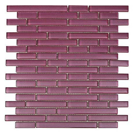 Quartz 1 Purple Glass Mosaic Tile Sheet (276x306mm)