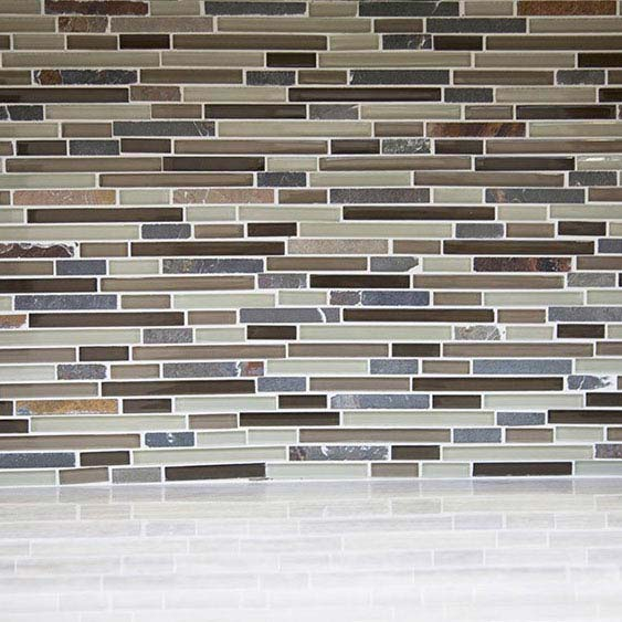 Quartz 1 Stone/Glass/Metal Mix Mosaic Tile Sheet (305x305mm) profile large image view 3