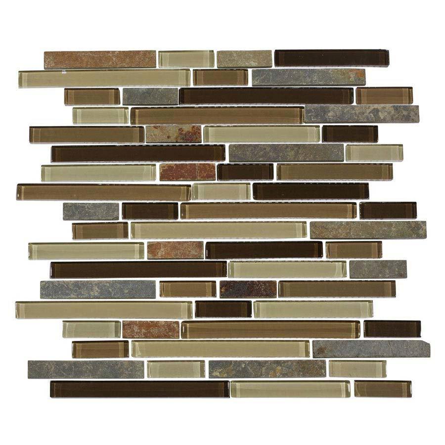 Quartz 1 Stone/Glass/Metal Mix Mosaic Tile Sheet (305x305mm) profile large image view 1