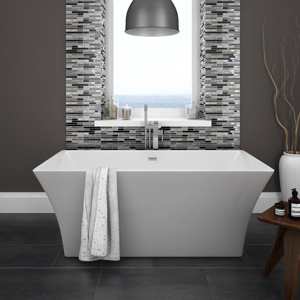 Quartz 1 Stone/Glass/Metal Mix Mosaic Tile Sheet (305x305mm) profile large image view 2
