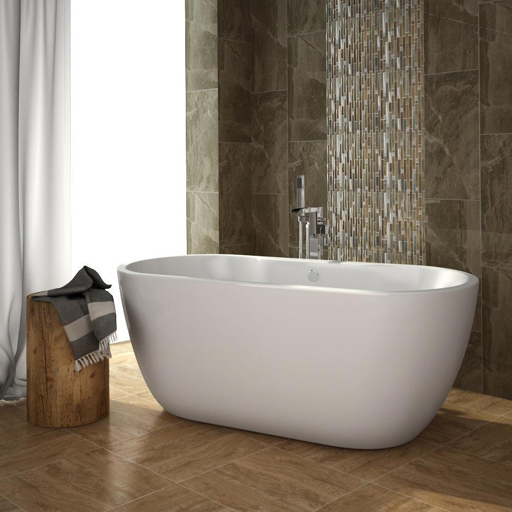 Quartz 1 Beige Stone/Glass/Metal Mix Mosaic Tile Sheet (306x306mm) profile large image view 3