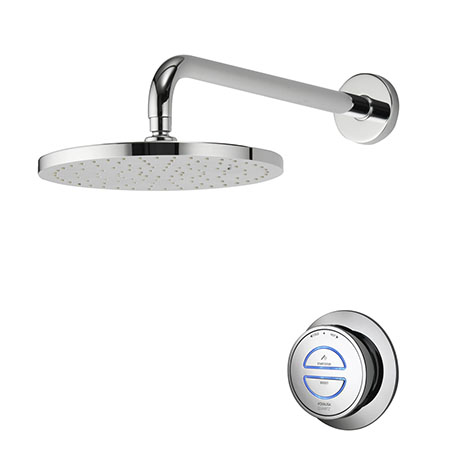 Aqualisa - Quartz Digital Concealed Thermostatic Shower with Wall Mounted Fixed Head