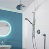 Aqualisa - Quartz Digital Divert Concealed Thermostatic Shower with Ceiling Mounted & Adjustable Heads profile small image view 1