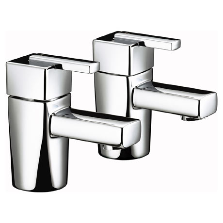 Bristan - Qube Basin Taps - Chrome - QU-1/2-C