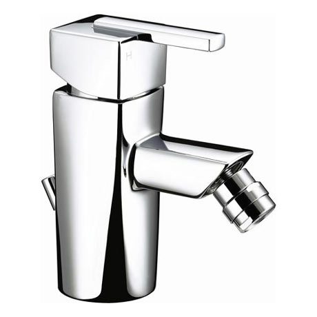Bristan - Qube Bidet Mixer W/ Pop Up Waste - Chrome - QU-BID-C